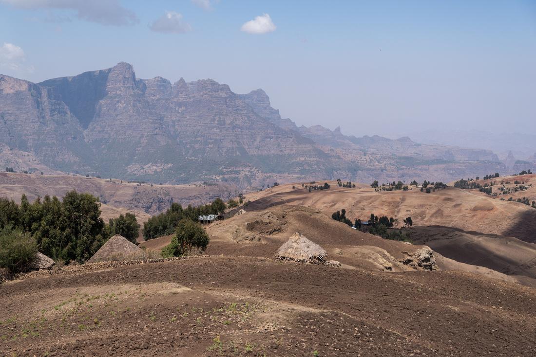 Farms in the Simien Mountains, Ethiopia