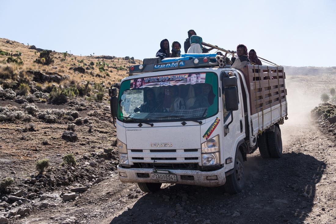 Obama truck, Simien Mountains, Ethiopia