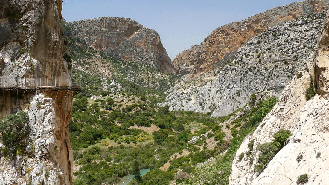 Caminito del Rey in the Gaitanes Gorge near El Chorro, Spain