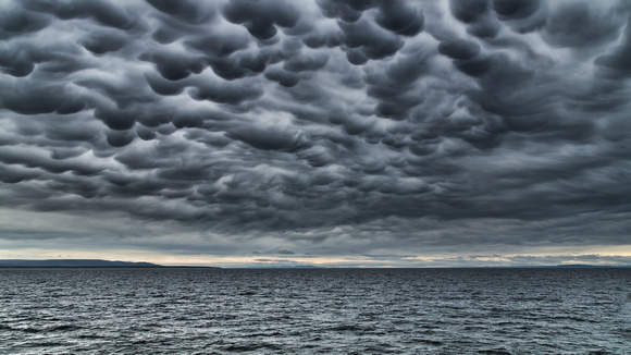 Mammatus clouds,  Strait of Magellan, Patagonian Chile