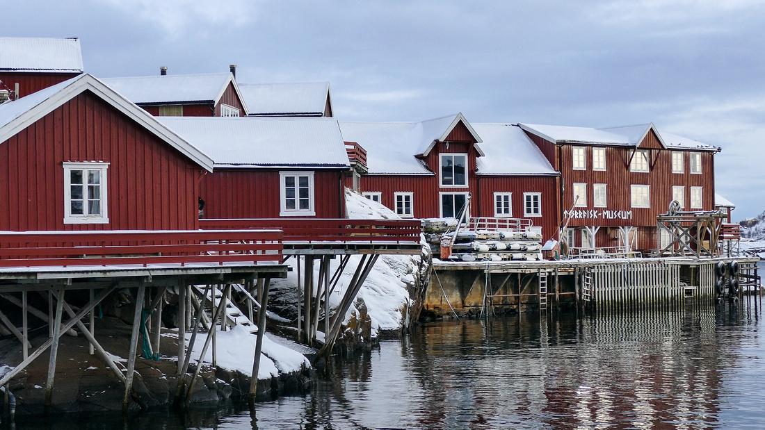 The harbour at  Å