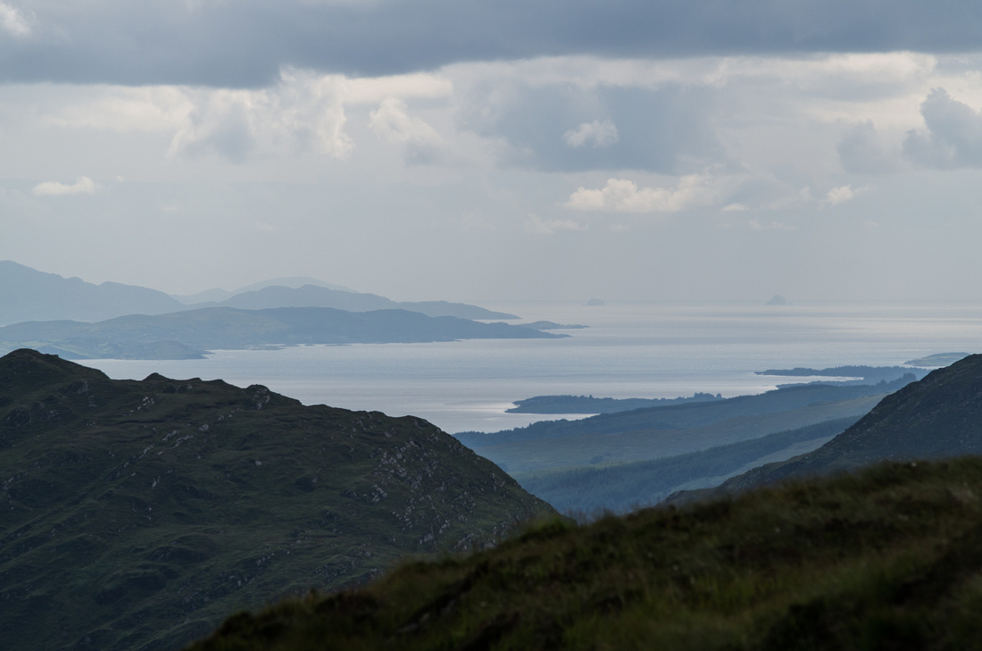 View down the Kerry and Cork coastline