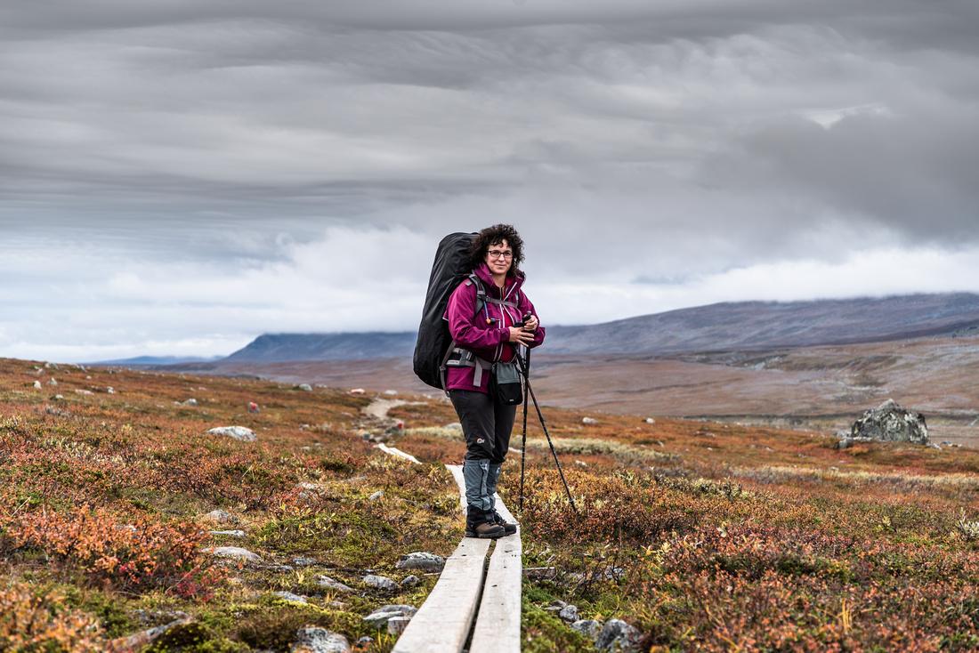 The Kungsleden Trail near Saltoluokta