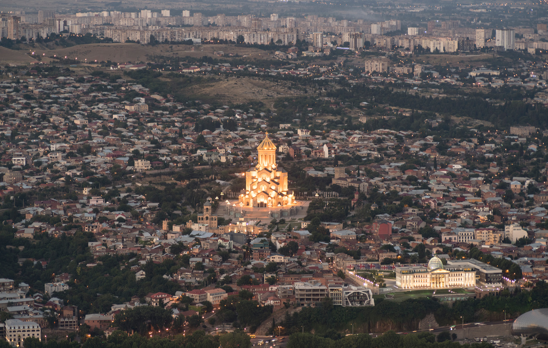Tbilisi from Mount Mtatsminda
