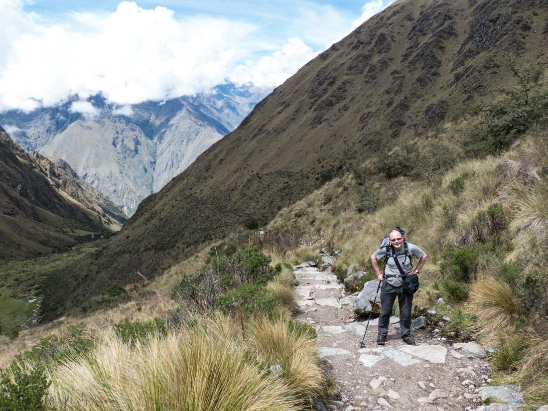 The trail below Dead Woman's Pass