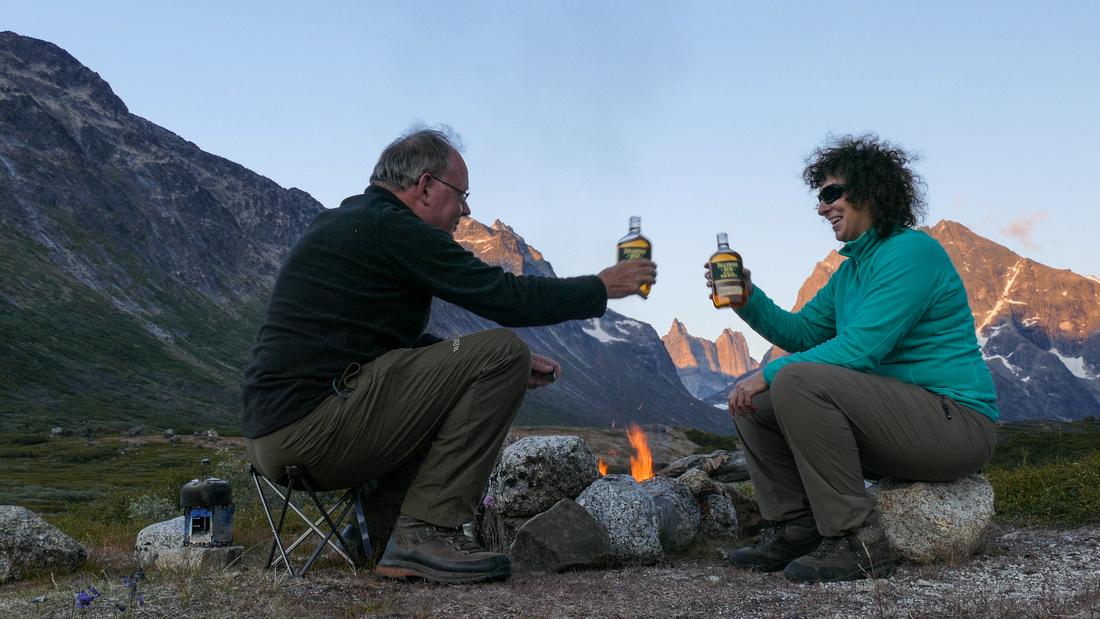 Campfire at our first wild camp in Klosterdalen